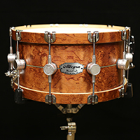 14 x 7 in Bubinga with Inlay and Wood Hoops