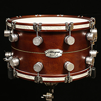 14 x 8 in Espresso with Inlay and Inlaid Hoops
