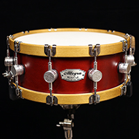 14 x 5.5 in Ox Blood with Wood Hoops