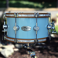 13 x 7 in Sonic Blue Gloss with Inlaid Hoops