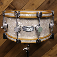 14 x 7 in Antique White Pearl with Inlaid Hoops